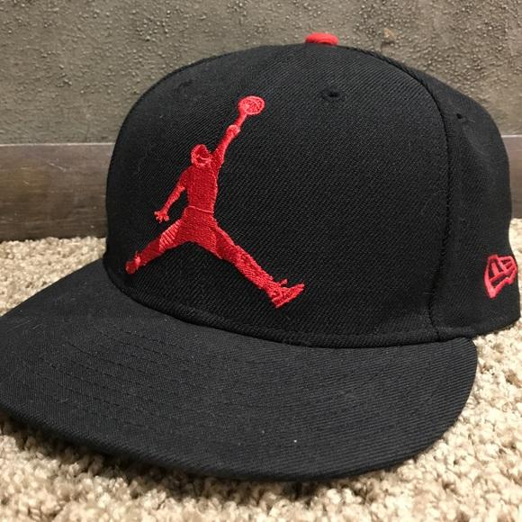 8908b0fcbfb4 New Era 59fifty Jordan Jumpman hat. M 5aef4c76077b97b7b32a6321